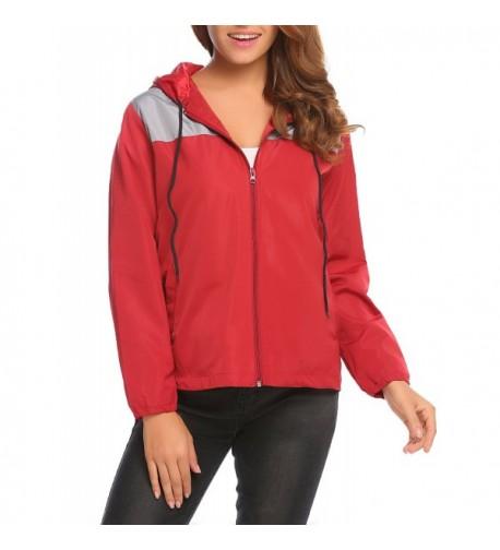 Unibelle Womens Zipper Woindbreaker Rainwear