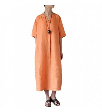 Minibee Womens Sleeve Summer Orange