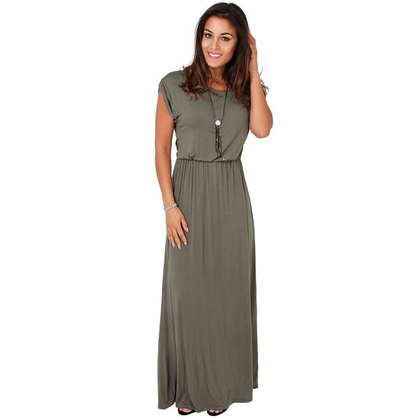 3269 KHA 16 3 KRISP Maxi Dress Khaki