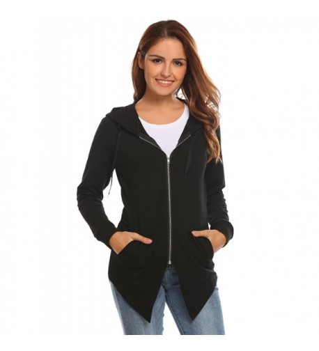 Misakia Hoodie Irregular Sweatshirt Jacket