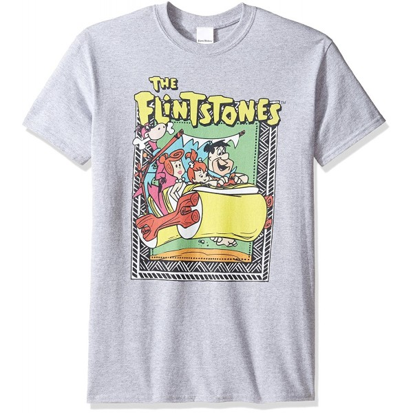 Flintstones Tribal Border Flintmobile T Shirt