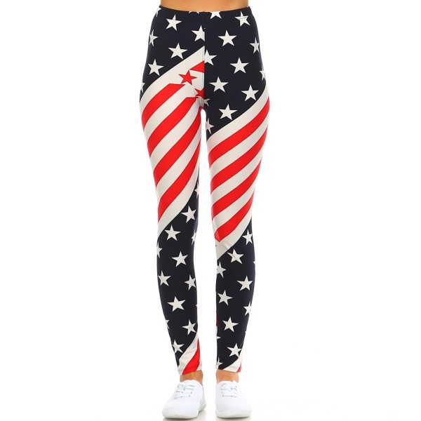 ceedc28abe86 ... Women s Ultra Soft Brushed Best Selling Printed Leggings-1 - American  Flag 4 - CH1825O0S4O. Fashionazzle Brushed Selling Leggings 1 American
