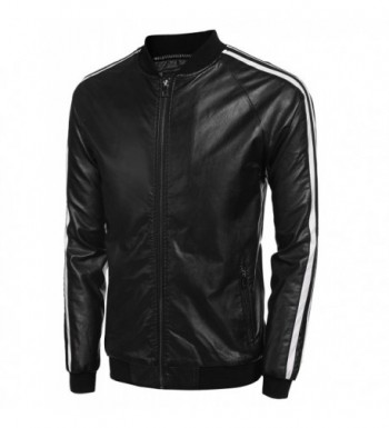 Men's Faux Leather Jackets Outlet