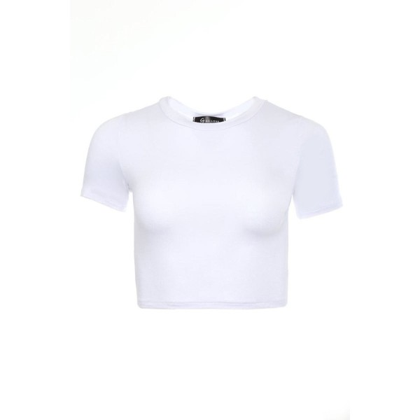 6a161c5c4cdb4 ... Crop Top With Plus Size and Junior Size - White - CT180HG2AUY. GS LOVE  Womens Sleeve Junior