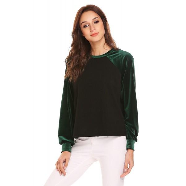 Zeagoo Velvet Crewneck Lightweight Sweatshirt