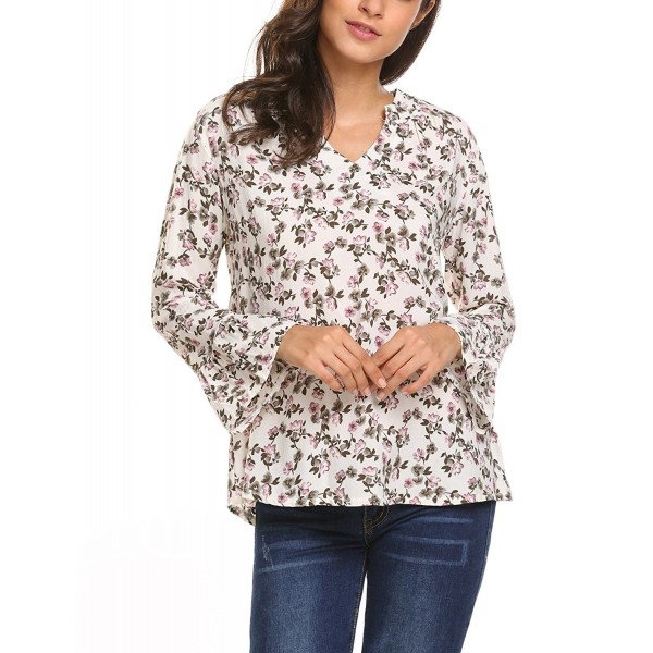 HOTOUCH Womens Casual Floral Sleeve