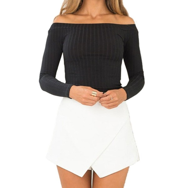 Noih Womens Shoulder Rib Knit Pullover