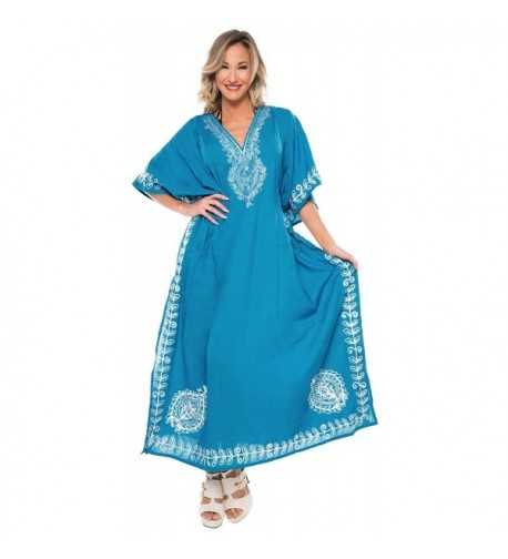 Leela Embroidered Lounger Drawstring Turquoise