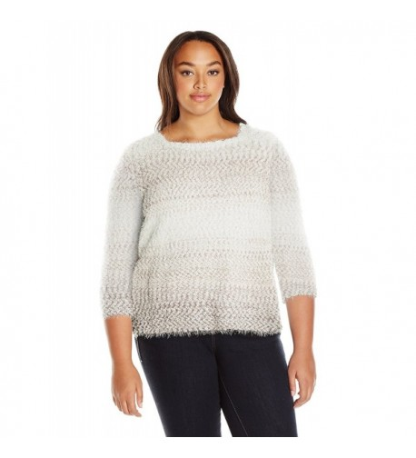 Alfred Dunner Womens Eyelash Sweater