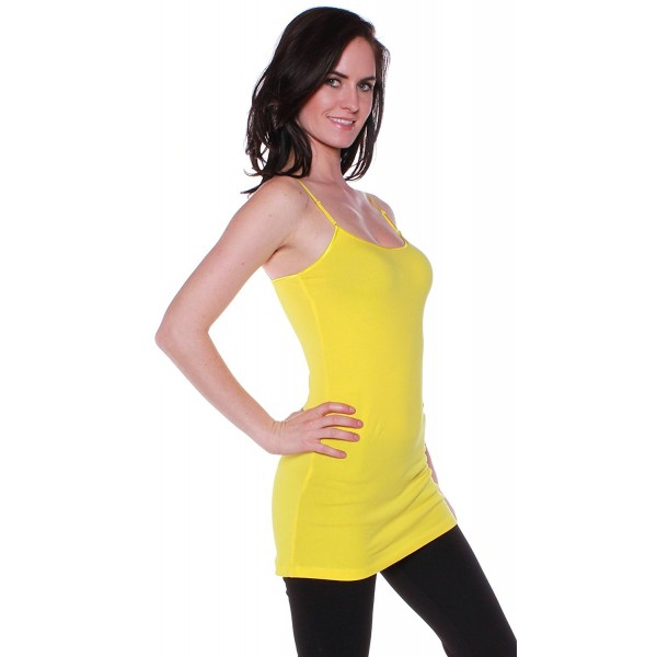 bbeac3fef677a ... Basic Casual Plain Camisole Cami Top Tank (3XL- Yellow) - CX11WBWTLWP. Active  Womens Casual Camisole Yellow