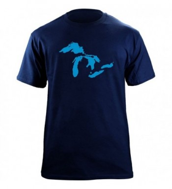 Great Lakes Graphic T Shirt Navy
