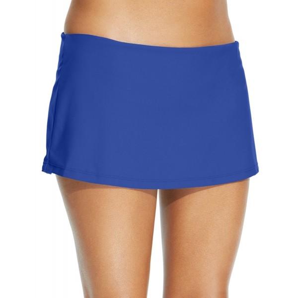 f75555112f6a7 Solid Swim Skirt Women's Swimsuit - Blue - CR12NZCS03D