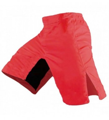 Blank MMA Shorts Red 34