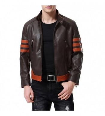 Leather Jacket Motorcycle Bomber Fashion