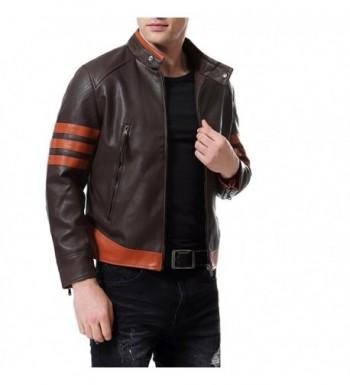 2018 New Men's Faux Leather Coats Online Sale