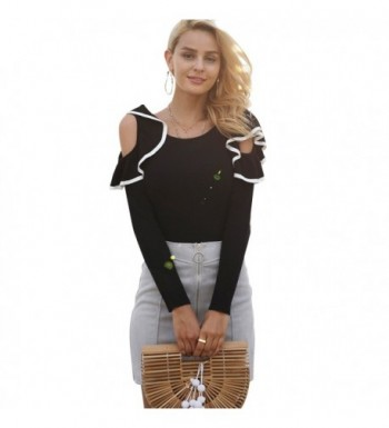 Simplee Shoulder Knitted Pullover Sweater