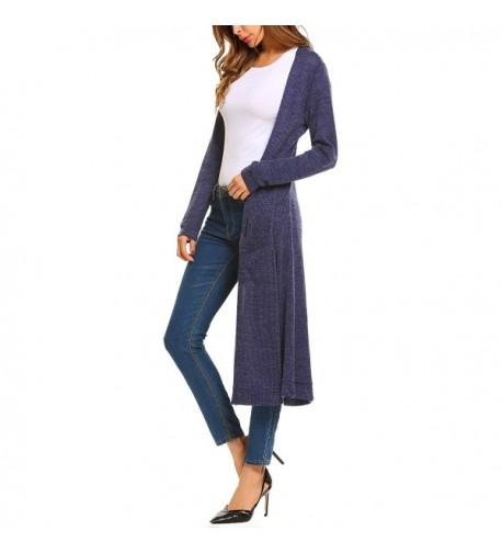 Elever Womens Casual Cardigan Pockets