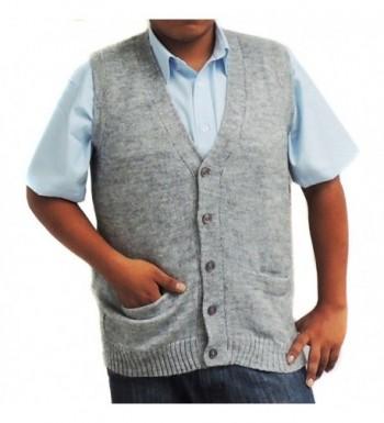 Vest alpaca blend buttons Silver