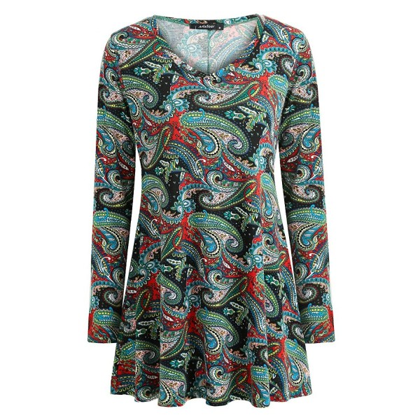 Mixfeer Womens Sleeve Loose Floral