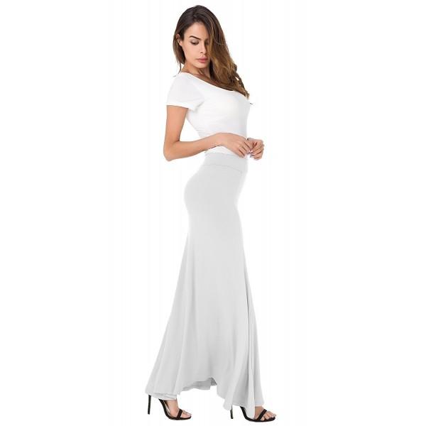 Maxi Skirts For Women Plus Size - Cream White - C6183NQZ0YW