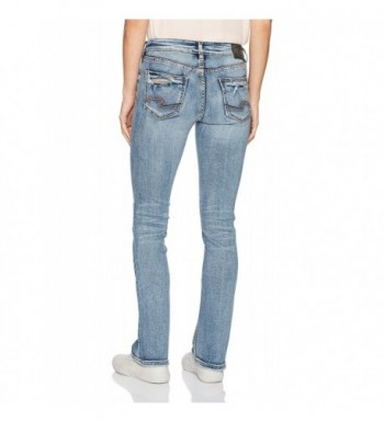 ed32b49a Silver Jeans Co. Women's Aiko Mid-Rise Slim Bootcut Jeans - Medium ...