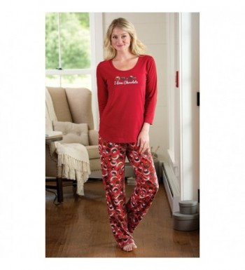 bf0ac9e367d1 PajamaGram Womens Cotton Chocolate Pajamas  Women s Pajama Sets Outlet ...