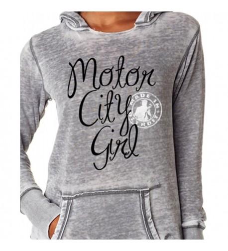 Made Detroit Motor Womens Hoodie