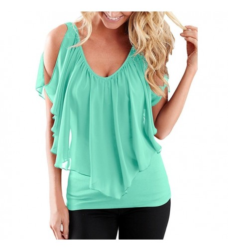 AlvaQ Womens Summer Sleeve Blouses