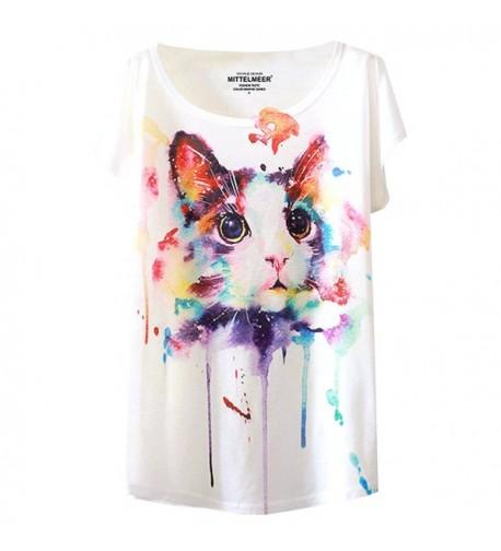 Futurino Graphic Abstract Splatter T shirt