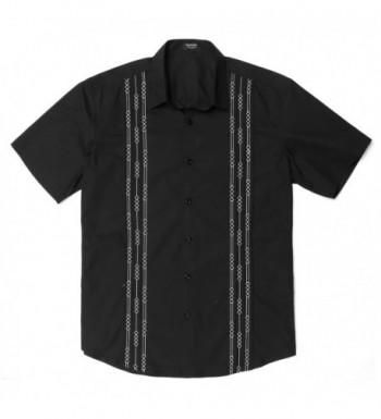 JINIDU Short Sleeve Cuban Guayabera