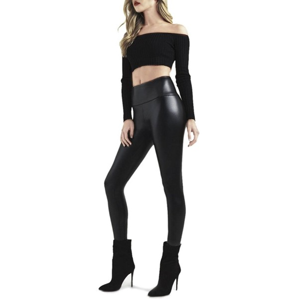 8fac519dc23 ... Black Faux High Waisted Leather Leggings Pants for Womens Girls Petite Plus  Size by Retro - High Waisted - CI1895S3HON. Waisted Leather Leggings Womens  ...