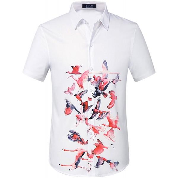 SSLR Flamingos Button Casual Sleeve