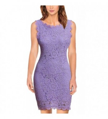 Womens Dresses Sleeveless Cocktail Lavender