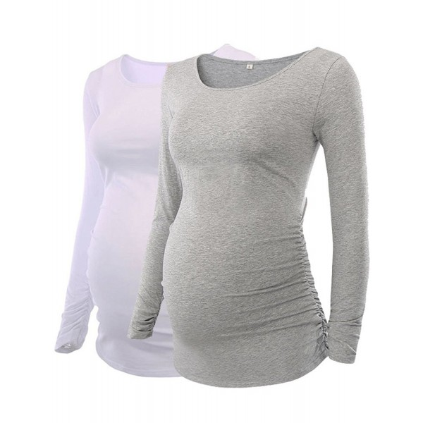 a2841341e11 Motherhood Maternity Flattering Pregnancy - White Gray - CV1896L8O9X