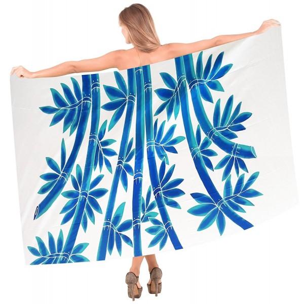 2591151667 ... Beachwear Wrap Bathing Suit Pareo Skirt Swimwear Womens Sarong Swimsuit  Cover up - White Blue Bamboo - C2121U7YK63. Leela Resort Lightweight Bathing  ...