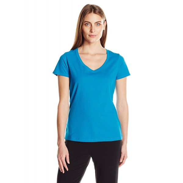 Jockey Womens V Neck Tee Teal