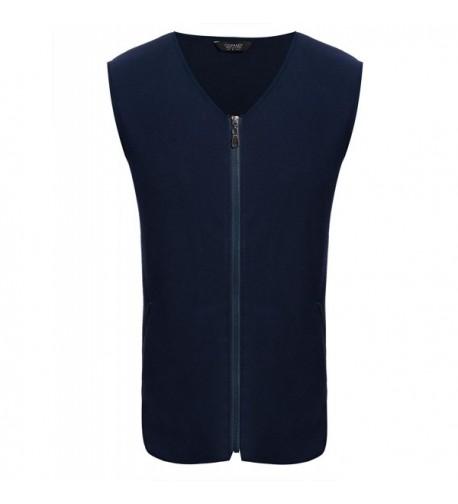 COOFANDY Mens V Neck Fleece Pockets
