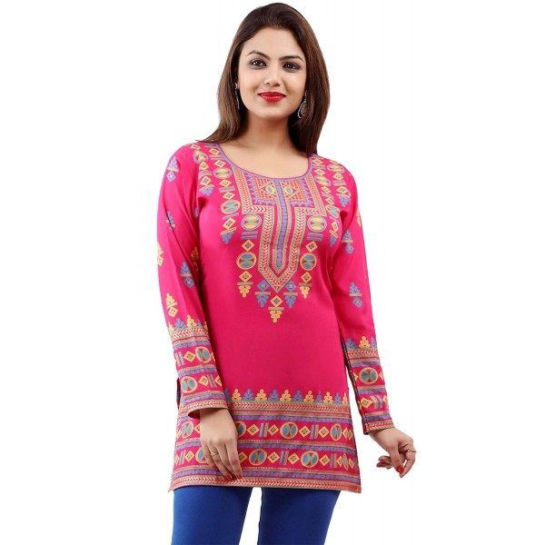 51e65c6b63b ... Indian Tunic Top Womens Kurti Printed Blouse India Clothing - Pink -  CP180DQZGY0. Maple Clothing Womens Printed Blouse