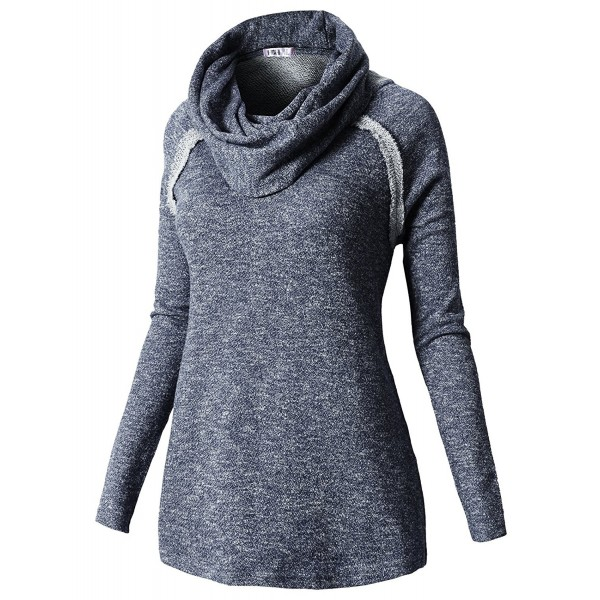3c64c62c5 Women s Long Sleeve Comfy Loose Fit Turtle Cowl Neck Knitted Sweater ...
