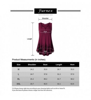 fcab9832a8d Women's Summer Sleeveless Tunics Floral Casual Loose Comfy Flowy ...