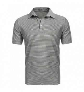 Coofandy Stripe Short Sleeve Green