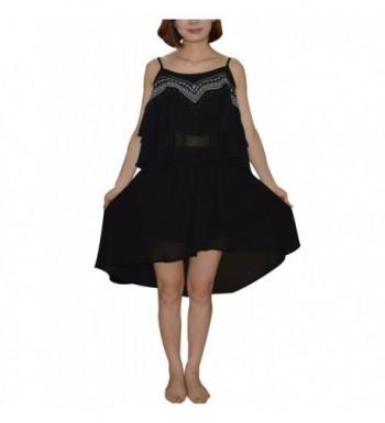 28fea13fff3a8 Aphratti Sleeveless Chiffon Spaghetti Embroidery  Cheap Real Women s Tanks  Online ...