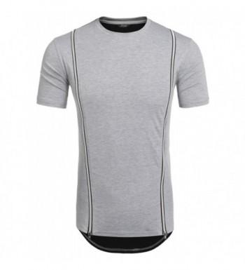 COOFANDY Hipster Hemline Crewneck T Shirt