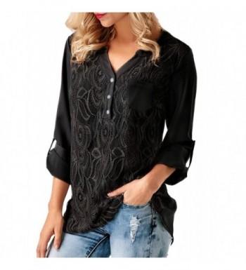 Womens Casual Sleeve Chiffon Blouses