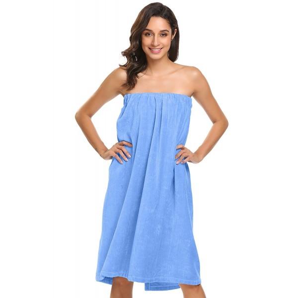 Velcro Shower Towel Wrap: Women's Wrap Shower Bath Terry Towel Spa Wrap With