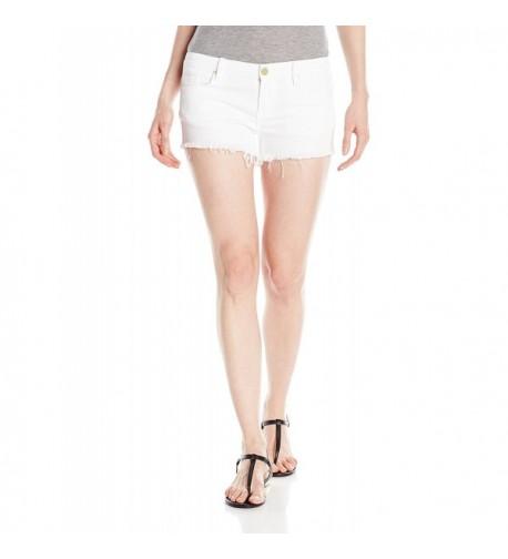 blanknyc Womens Cut Short White