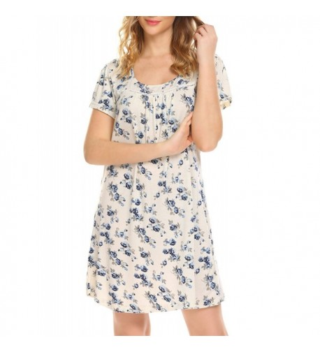 MAXMODA Cotton Sleeve Floral Nightdress