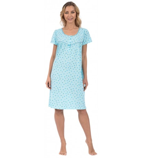 Pink Lady Womens Nightgown Turquoise