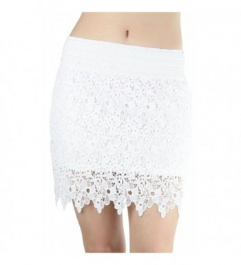 ToBeInStyle Womens Lace Floral Skirt