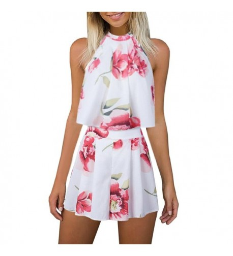Womens Printed Playsuit Jumpsuits Outfits